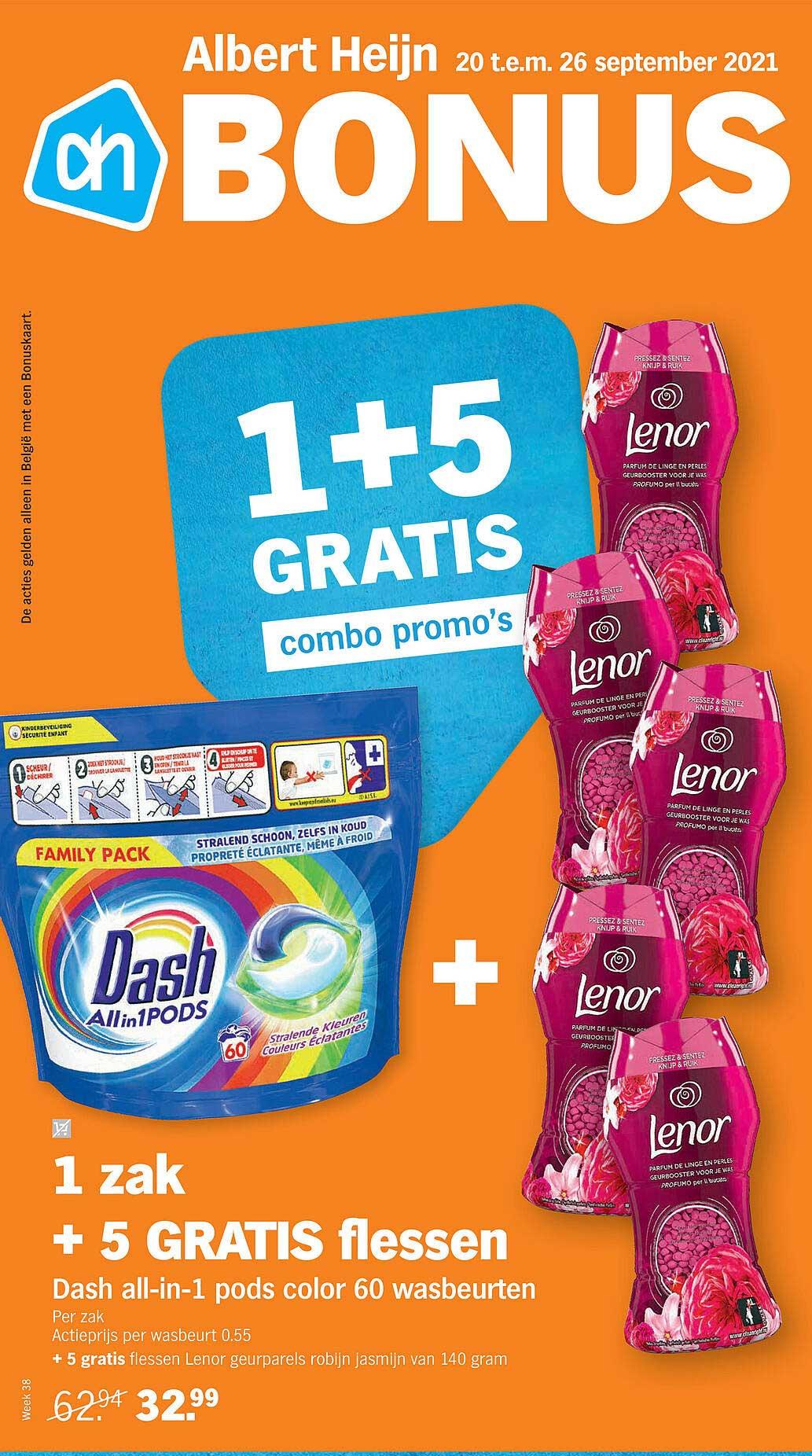 Albert Heijn Dash All-in-1 Pods Color 60 Wasbeurten