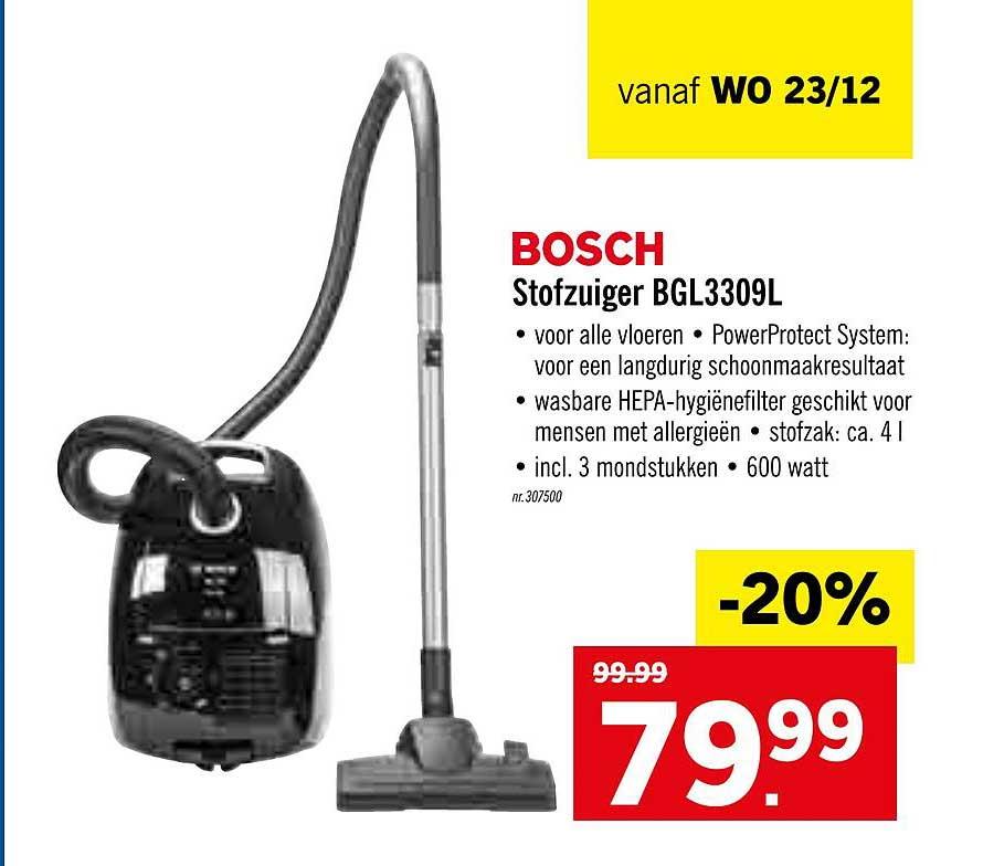 Lidl Bosch Stofzuiger Bgl3309l