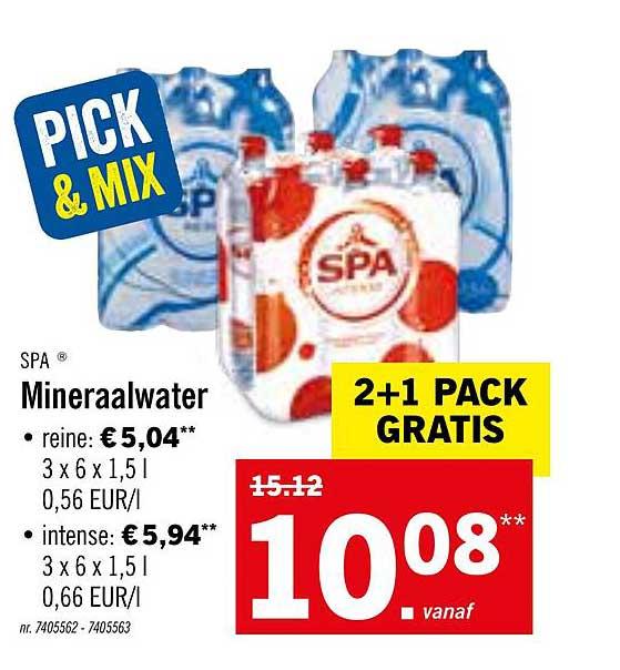 Lidl Spa Mineraalwater
