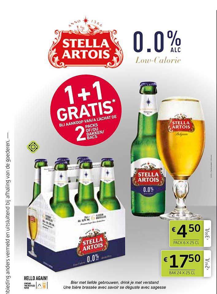 BelBev Stella Artois 1+1 Gratis