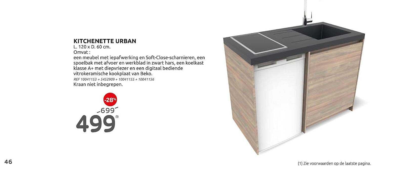 Brico Kitchenette Urban 120x60 Cm