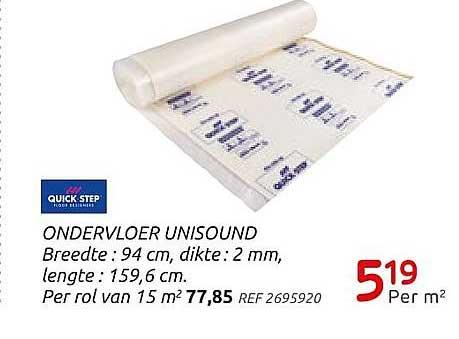 Brico Ondervloer Unisound 94 Cm