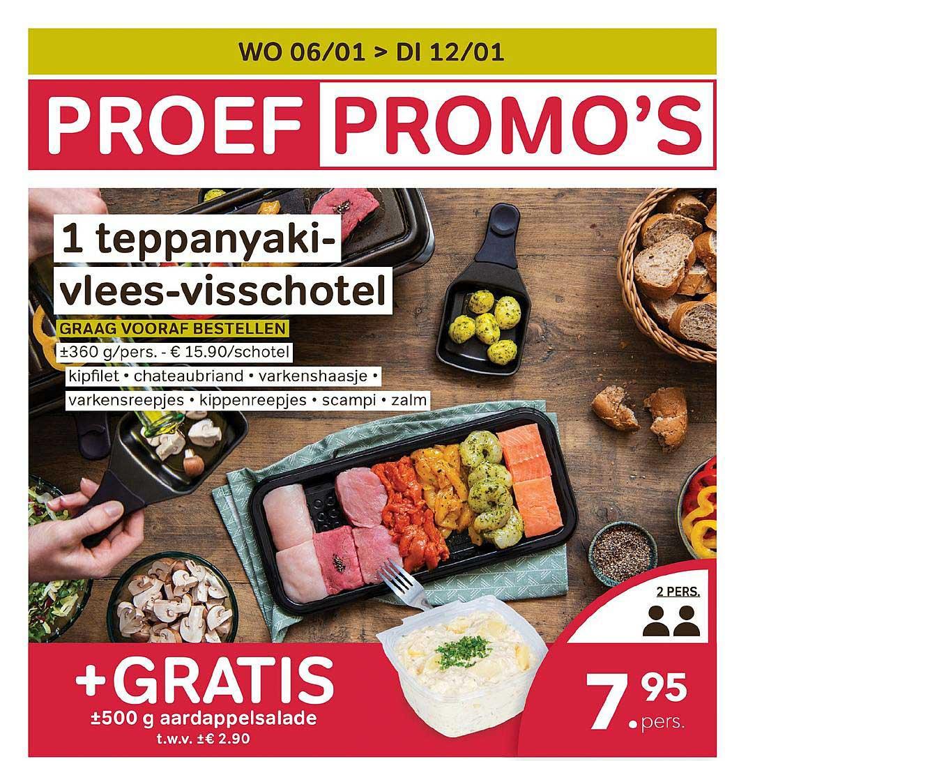 Bon Ap 1 Teppanyaki Vlees Visschotel + Gratis 500 G Aardappelsalade