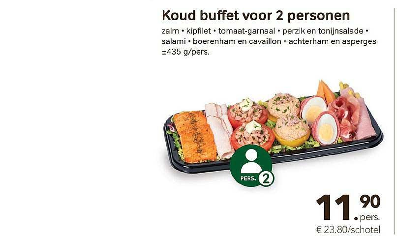 Bon Ap Koud Buffet Voor 2 Personen