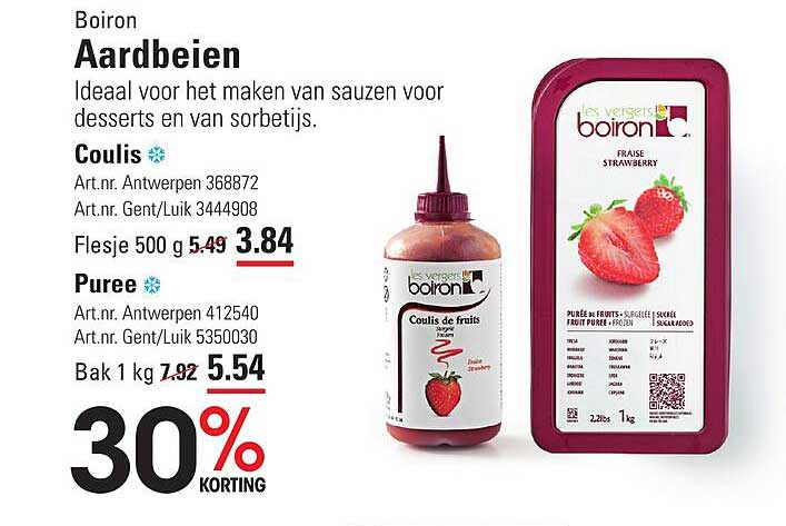 ISPC Boiron Aardbeien Coulis Of Puree