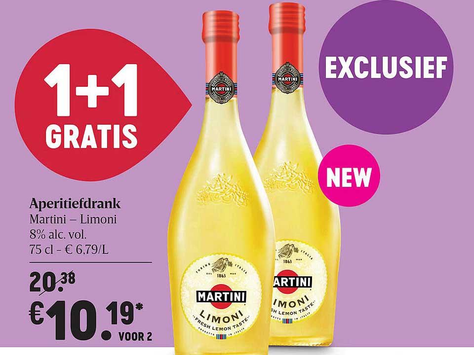 Delhaize Aperitiefdrank Martini Limoni