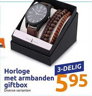 Action Horloge Met Armbanden Griftbox