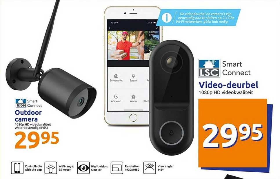 Action Outdoor Camera, Video-deurbel