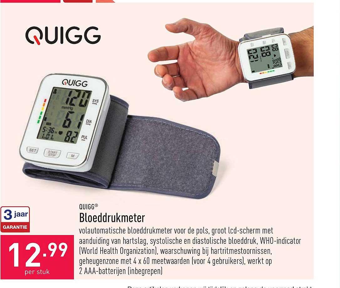 ALDI Quigg Bloeddrukmeter