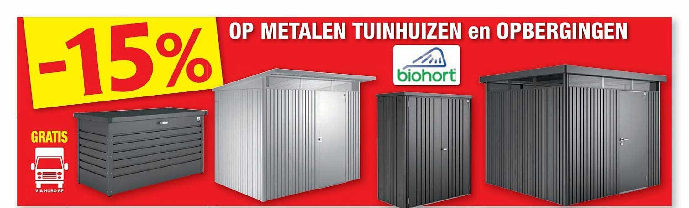 Hubo -15% Op Metalen Tuinhuizen En Opbergingen