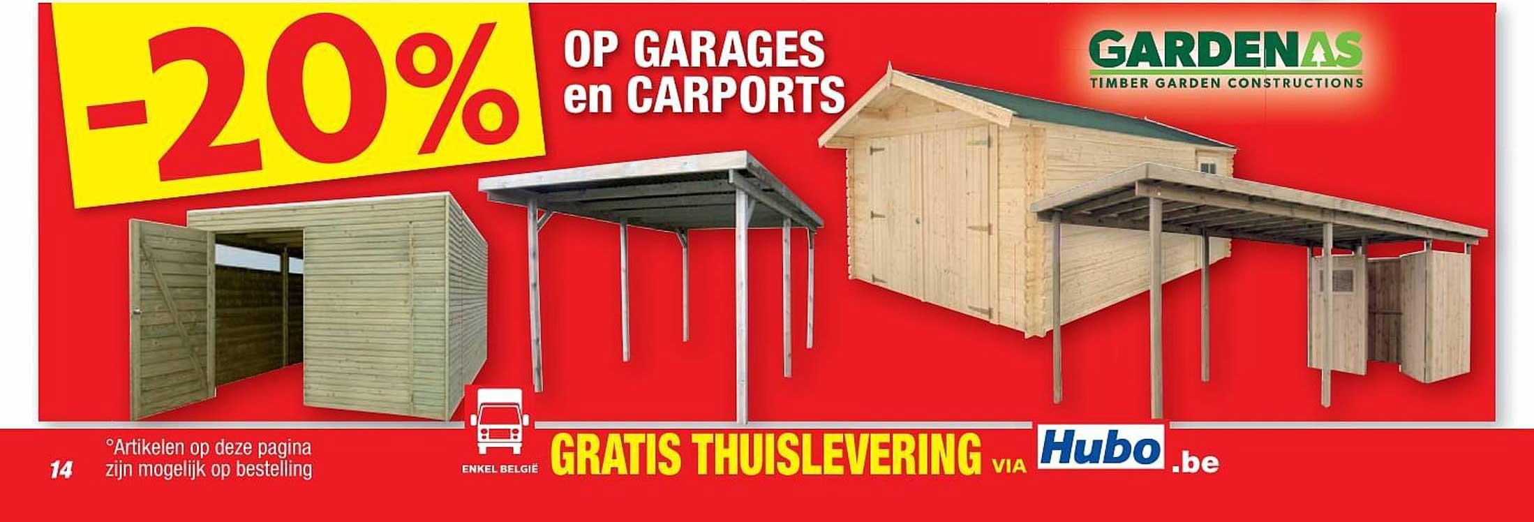 Hubo -20% Op Garages En Carports Gardenas