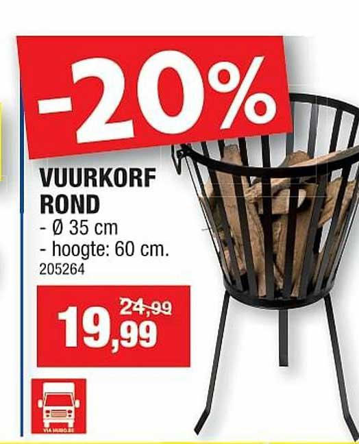 Hubo -20% Vuurkorf Rond