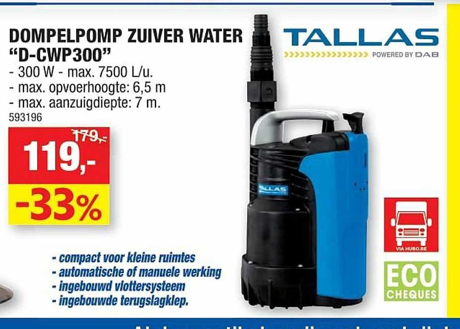 Hubo Dompelpomp Zuiver Water