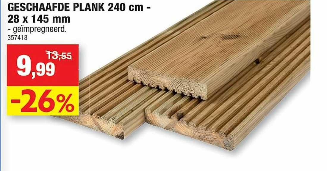 Hubo Geschaafde Plank 240 Cm- 28x145 Mm