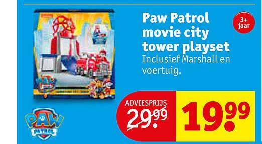 Kruidvat Paw Patrol Movie City Tower Playset