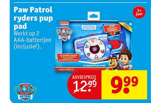 Kruidvat Paw Patrol Ryders Pup Pad