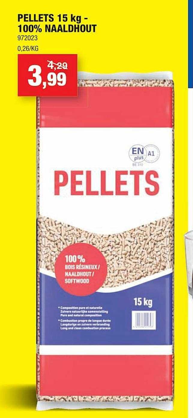 Hubo Pellets 15 Kg - 100% Naaldhout