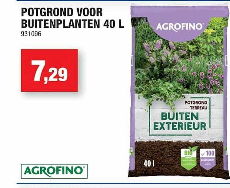 Hubo Potgrond Voor Buitenplanten 40 L Agrofino