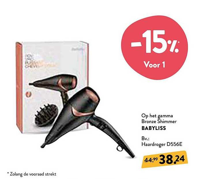 Di -15% Bronze Shimmer Babyliss Haardroger D556e