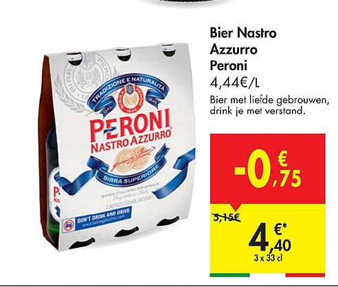 Hyper Carrefour Bier Nastro Azzurro Peroni