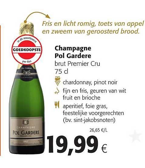 Colruyt Champagne Pol Gardere Brut Premier Cru