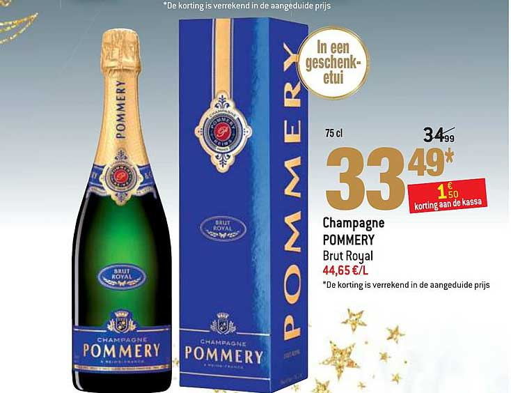 Match Champagne Pommery Brut Royal