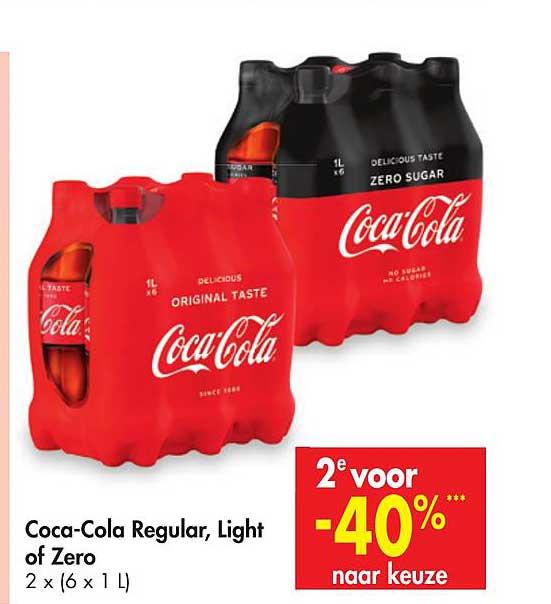 Carrefour Coca-cola Regular, Light Of Zero