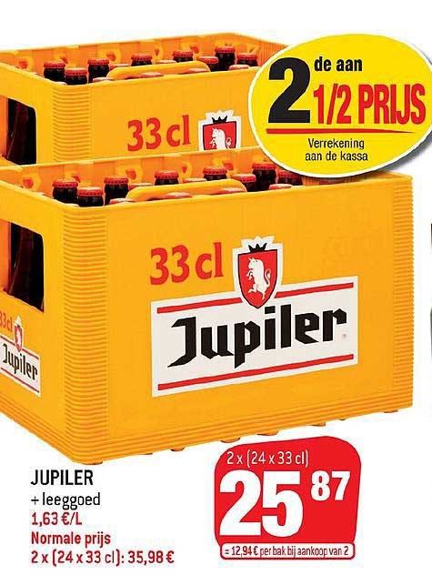 Match Jupiler + Leeggoed