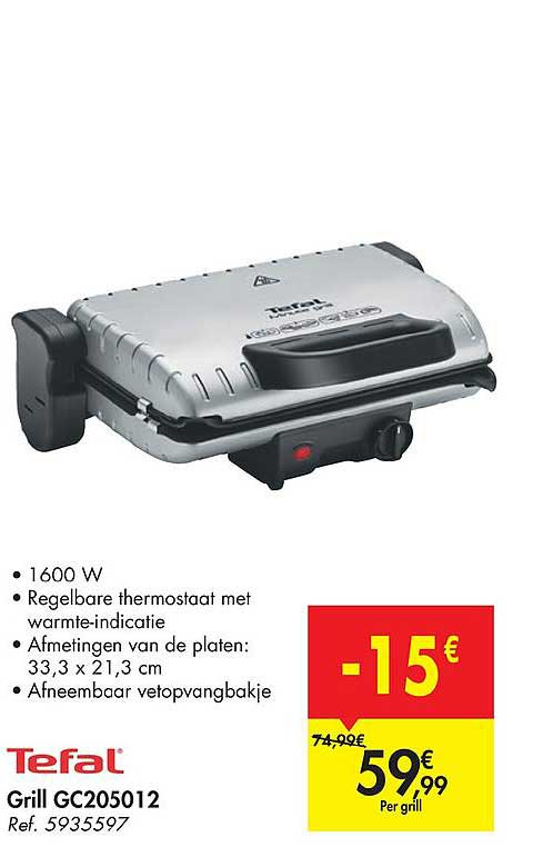 Hyper Carrefour Tefal Grill Gc205012