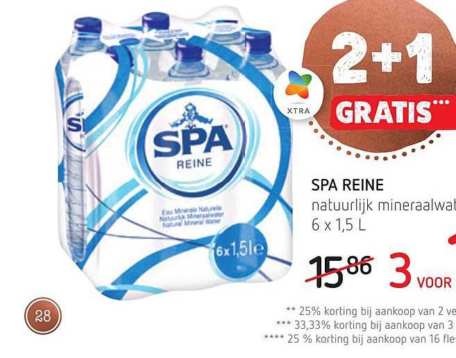 Spar Colruyt 2+1 Gratis Spa Reine Natuurlijk Mineraalwater
