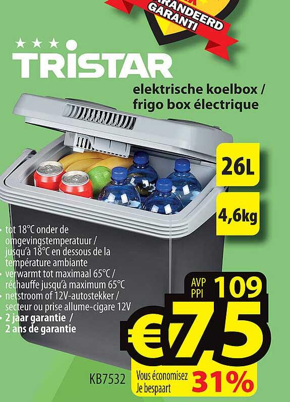 ElectroStock Tristar Elektrische Koelbox- Frigo Box Electrique