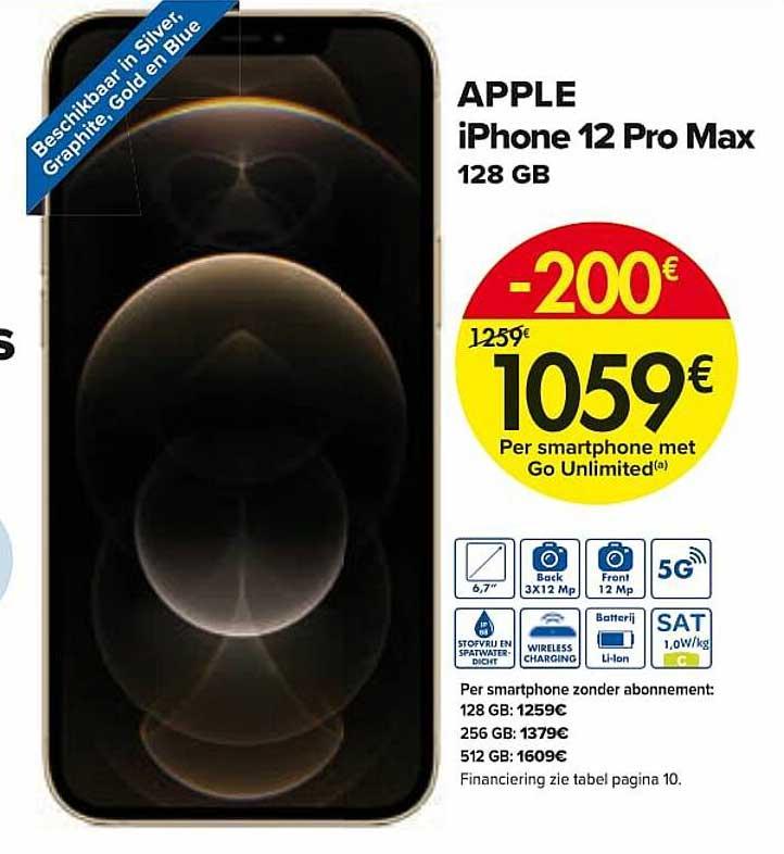 Carrefour Apple Iphone 12 Pro Max 128 Gb