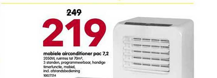 Yess Mobiele Airconditioner Pac 7,2