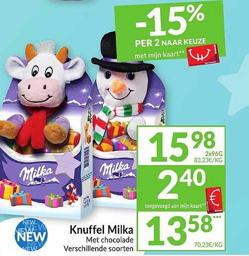 Intermarché Knuffel Milka
