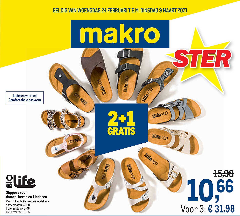 Makro Biolife Slippers Voor Dames, Heren En Kinderen