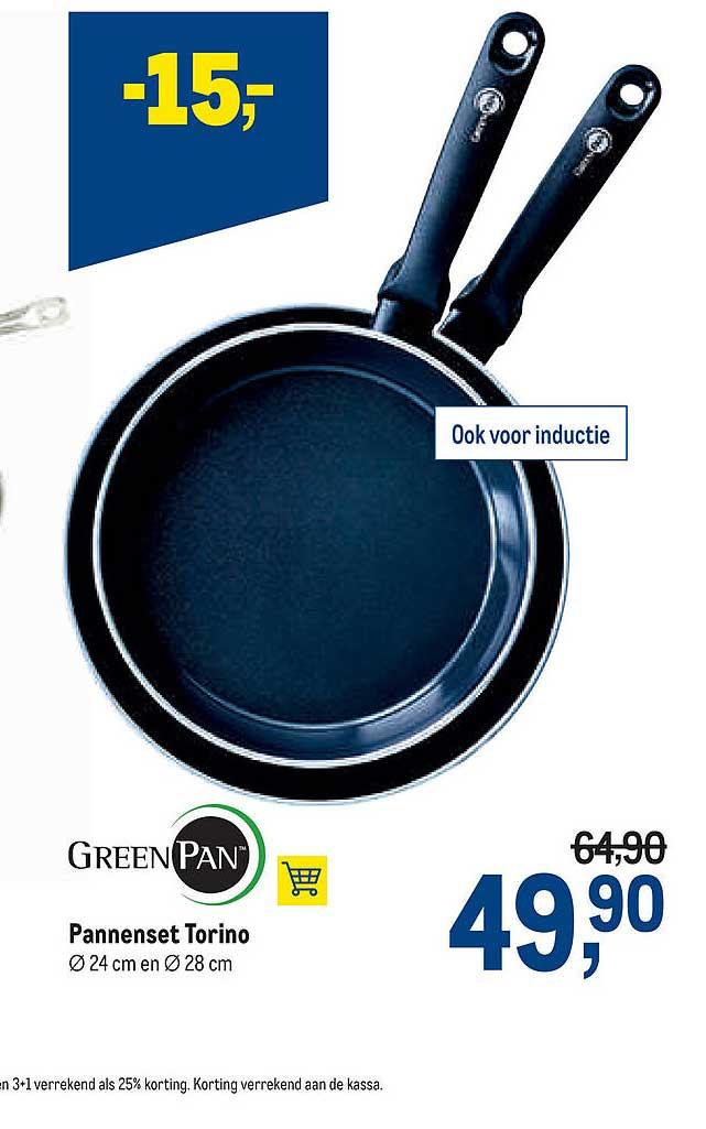 Makro Greenpan Pannenset Torino 24 Cm En 28 Cm