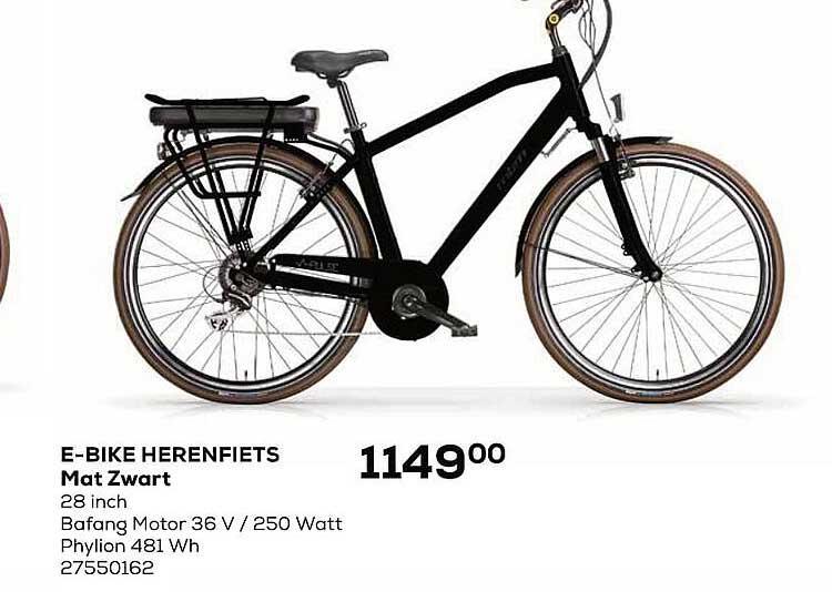 Supra Bazar E-bike Herenfiets Mat Zwart 28 Inch