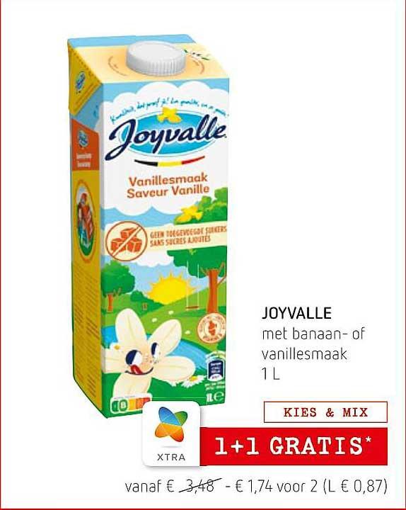 Spar Colruyt Joyvalle Met Banaan- Of Vanillesmaak