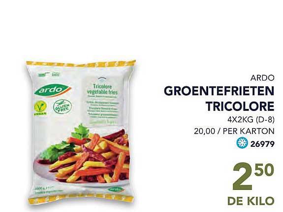 Bidfood Ardo Groentefrieten Tricolore