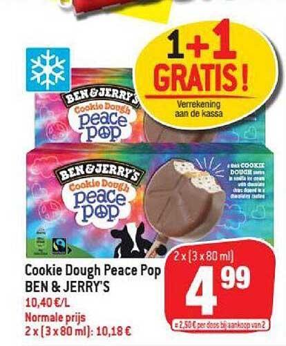 Match Cookie Dough Peace Pop Ben & Jerry's