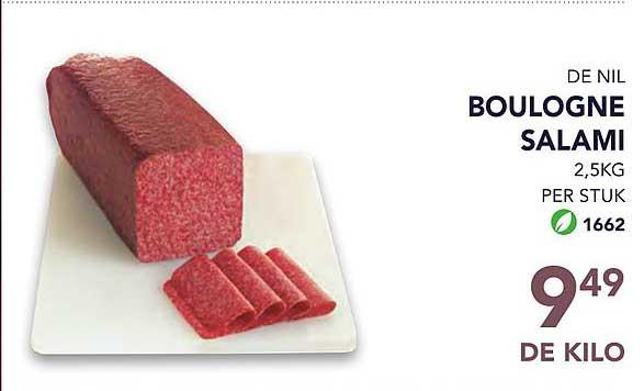 Bidfood De Nil Boulogne Salami