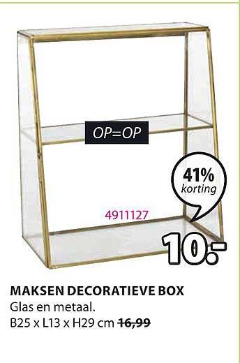 Jysk Maksen Decoratieve Box