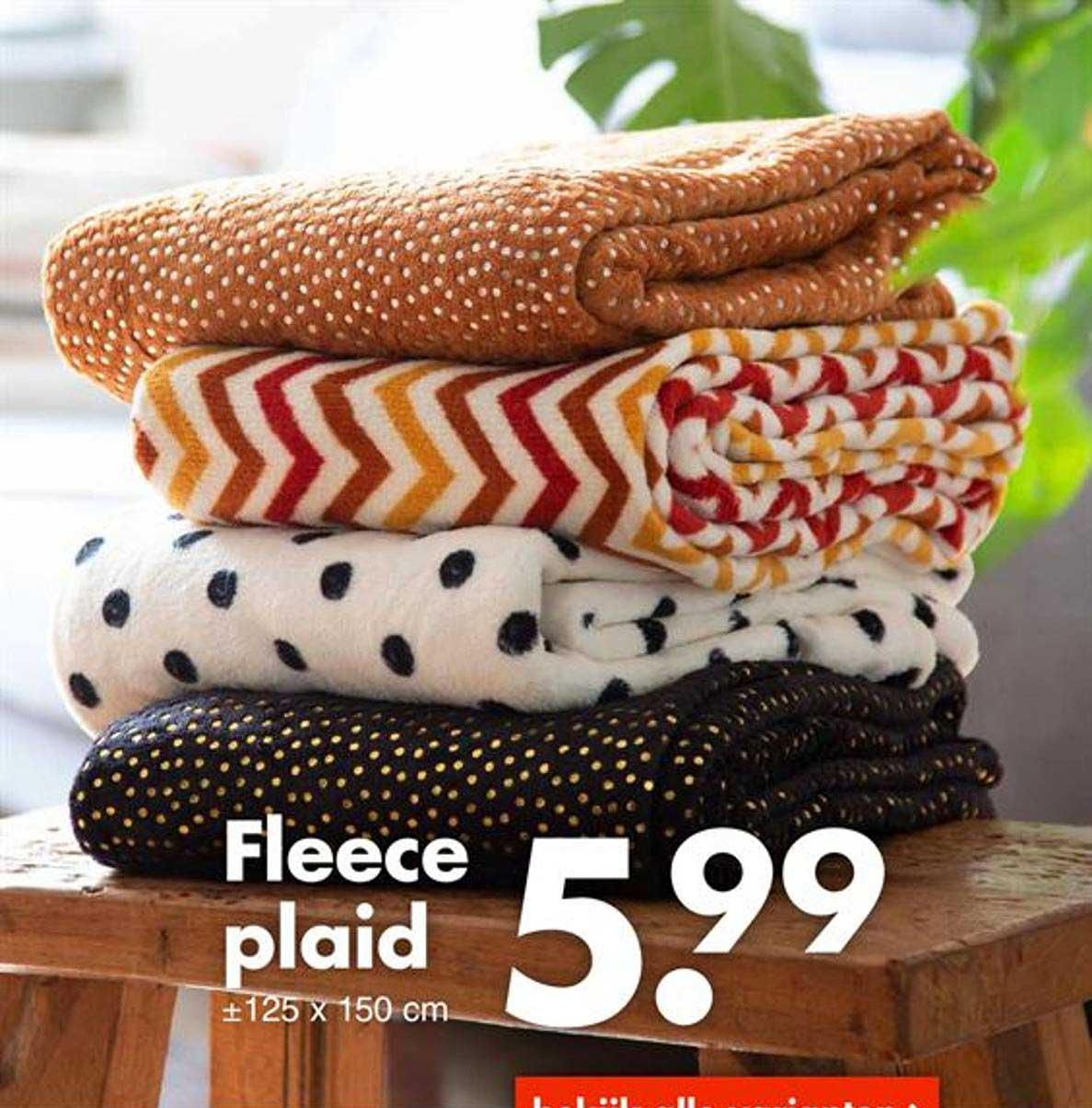 Wibra Fleece Plaid