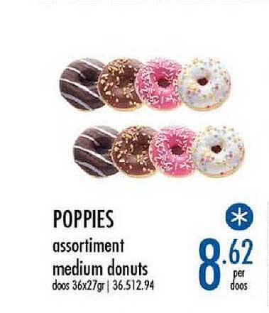 Horeca Totaal Poppies Assortiment Medium Donuts