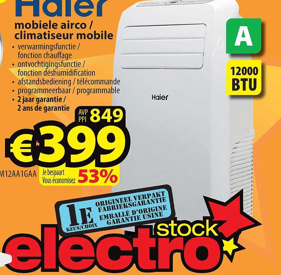 ElectroStock Haier Mobiele Airco - Climatiseur Mobile