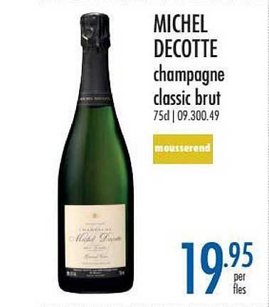Horeca Totaal Michel Decotte Champagne Classic Brut