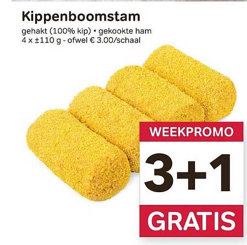Bon Ap Kippenboomstam 3+1 Gratis