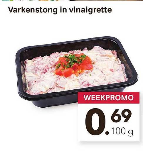 Bon Ap Varkenstong In Vinaigrette