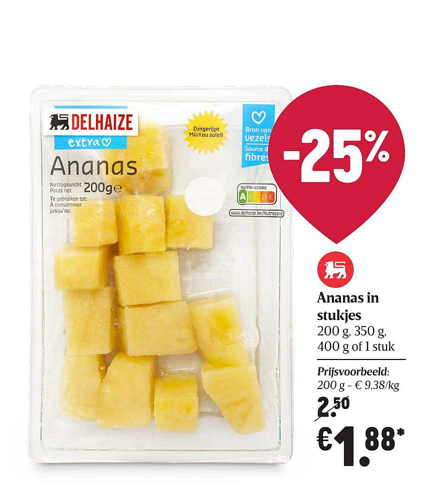 Proxy Delhaize Ananas In Stukjes