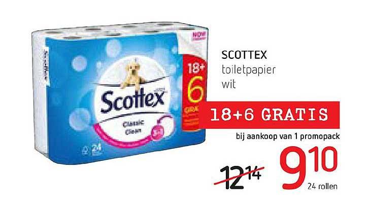 Spar Colruyt Scottex Toiletpapier